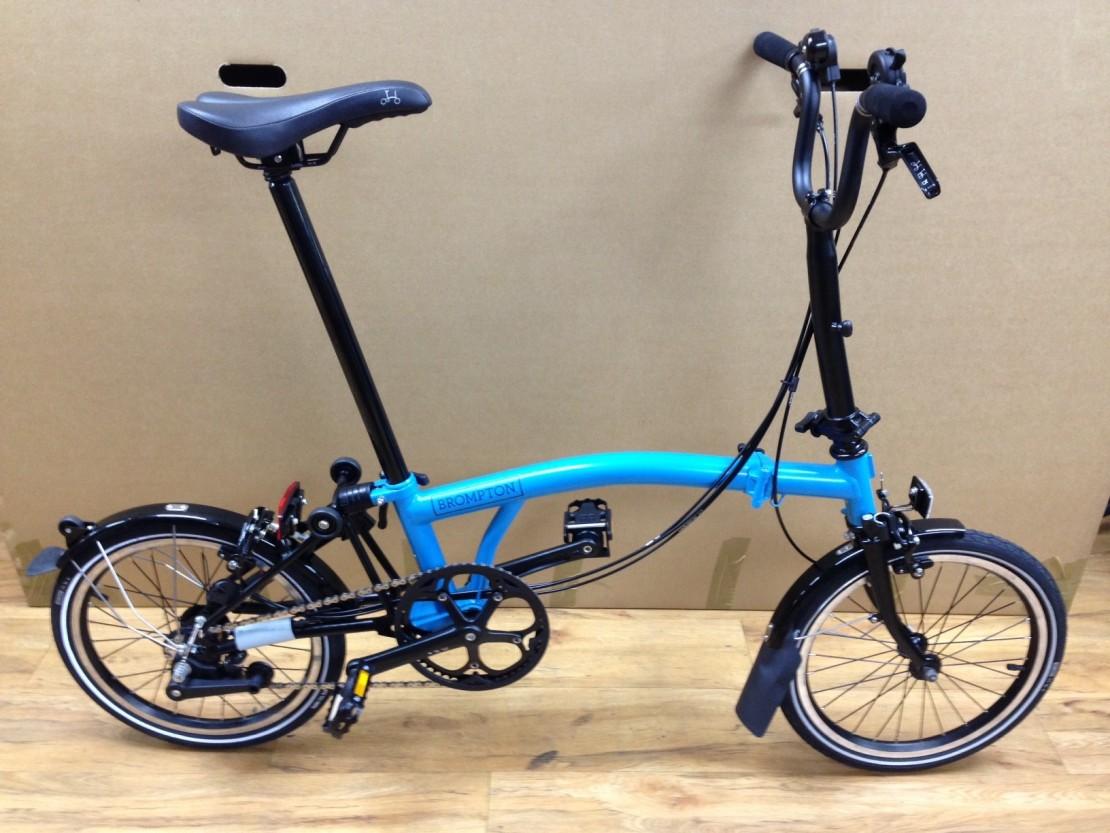 Brompton M6L Black Edition (Lagoon Blue) Folding Bike 2016