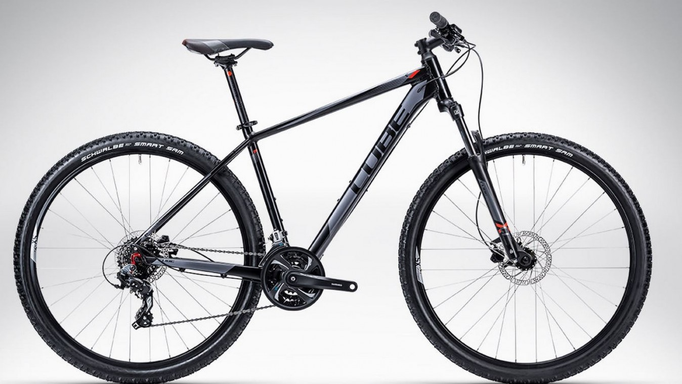 cube aim disc 29 2015 black and grey hardtail mountain bike 29er mountain bikes from 400. Black Bedroom Furniture Sets. Home Design Ideas