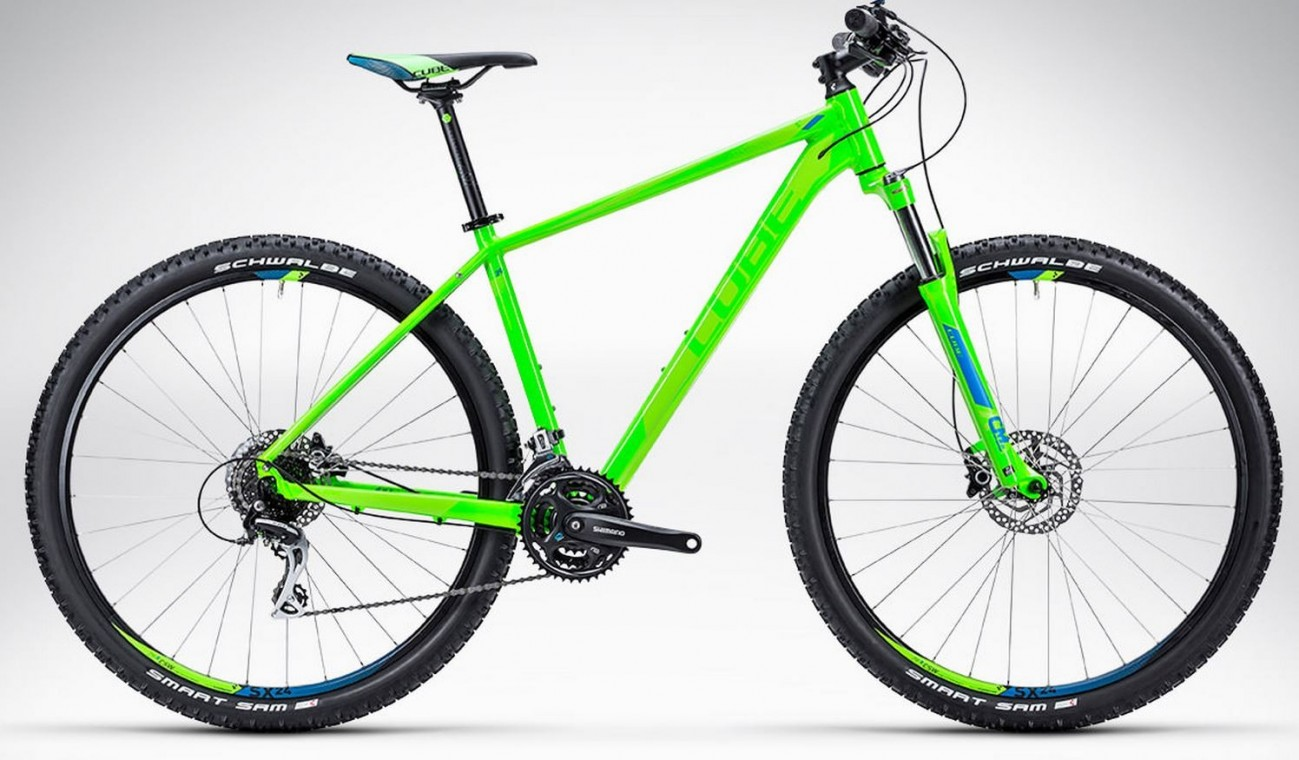 Cube Aim SL 27.5 2015 Green and Blue - Hardtail Mountain Bike | 650B (27.5) Mountain Bikes from £399