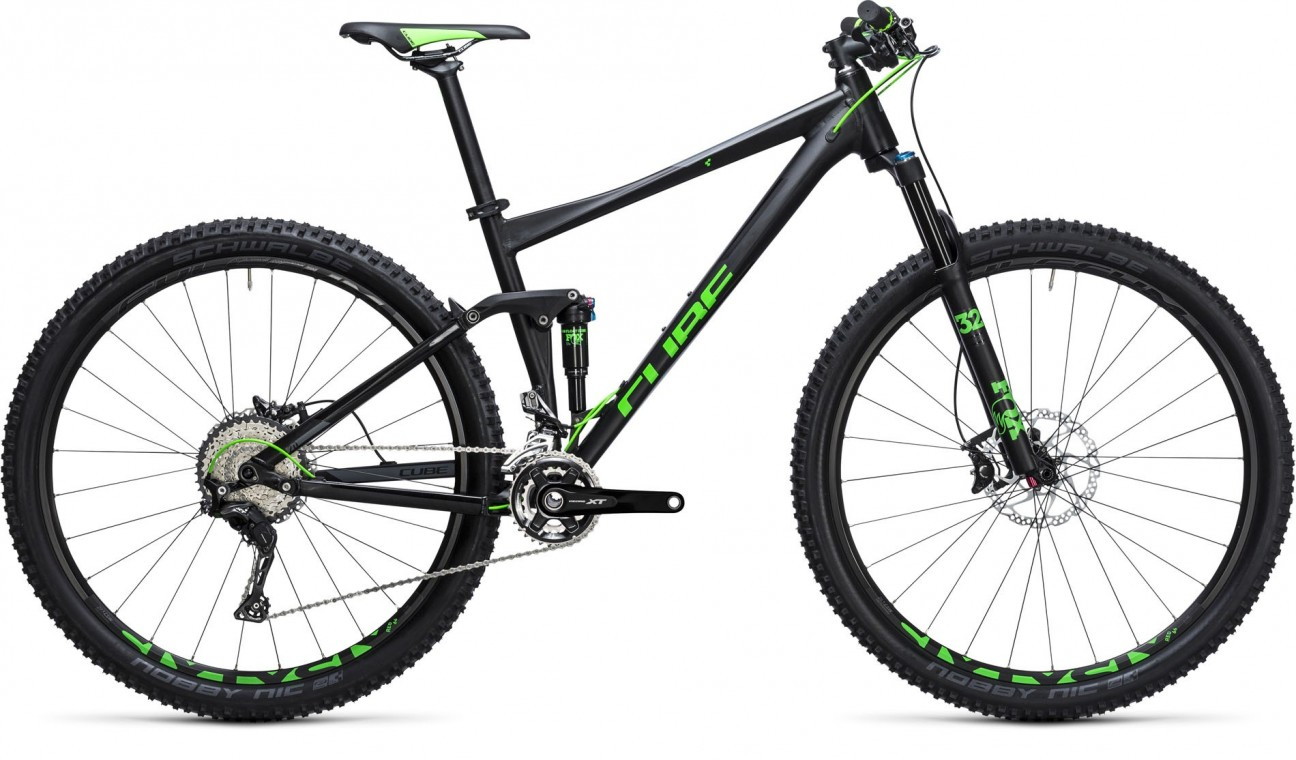 Cube Cube Stereo 120 HPA SL Black/Green 2017 - Mountain Bike