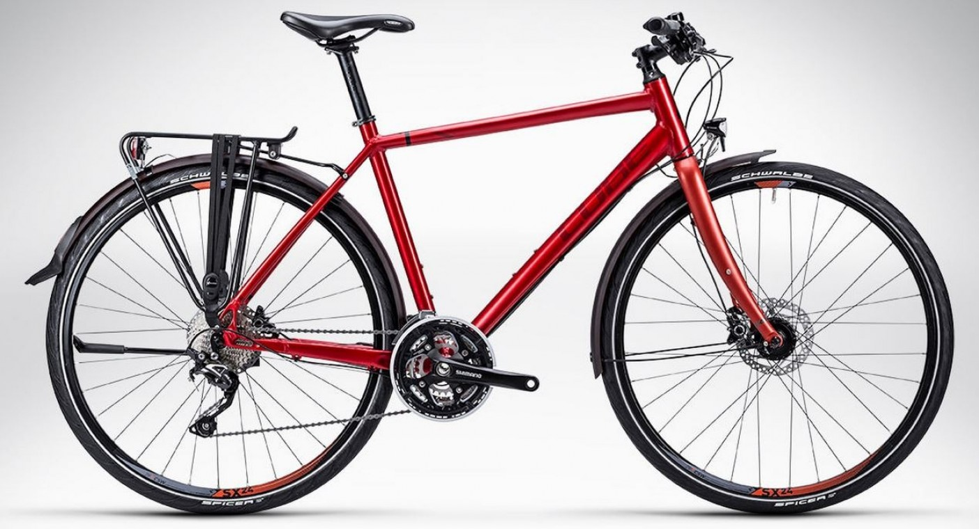 Cube Travel Exc Rf 2015 Red Hybrid Bike Hybrids From 163 379