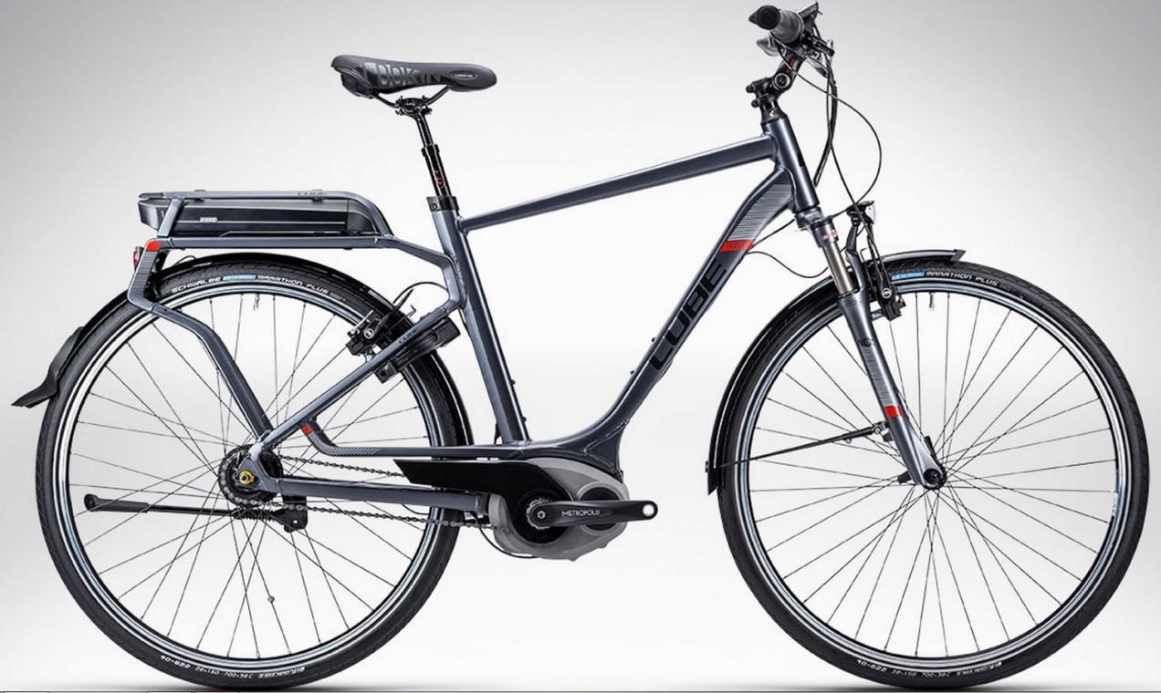 cube travel hybrid pro grey 2015 hybrid electric bike. Black Bedroom Furniture Sets. Home Design Ideas