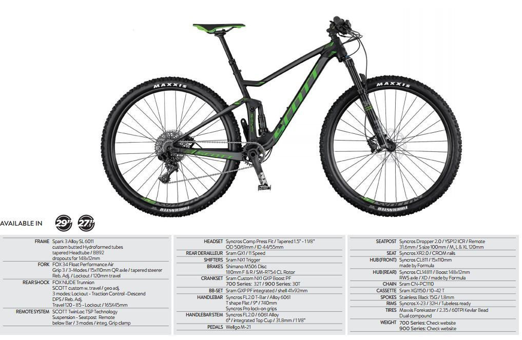 Spark 745 2017 - 27.5 Mountain Bike