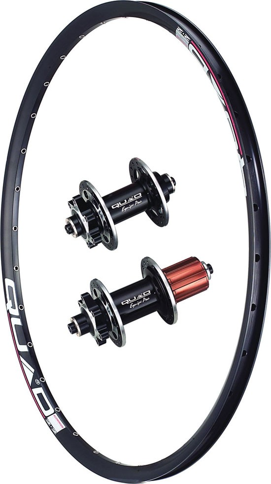 Quad Rear Wheel 6 Bolt 135 X QR Hub X 22mm Rim Black 2014