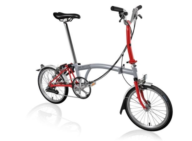 H6L 6-Speed Grey/Red - Folding Bike 2018