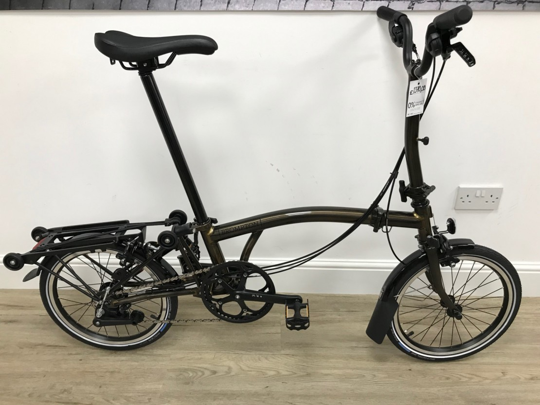 Brompton M6R Black Edition Raw Lacquer 6 Speed 2020