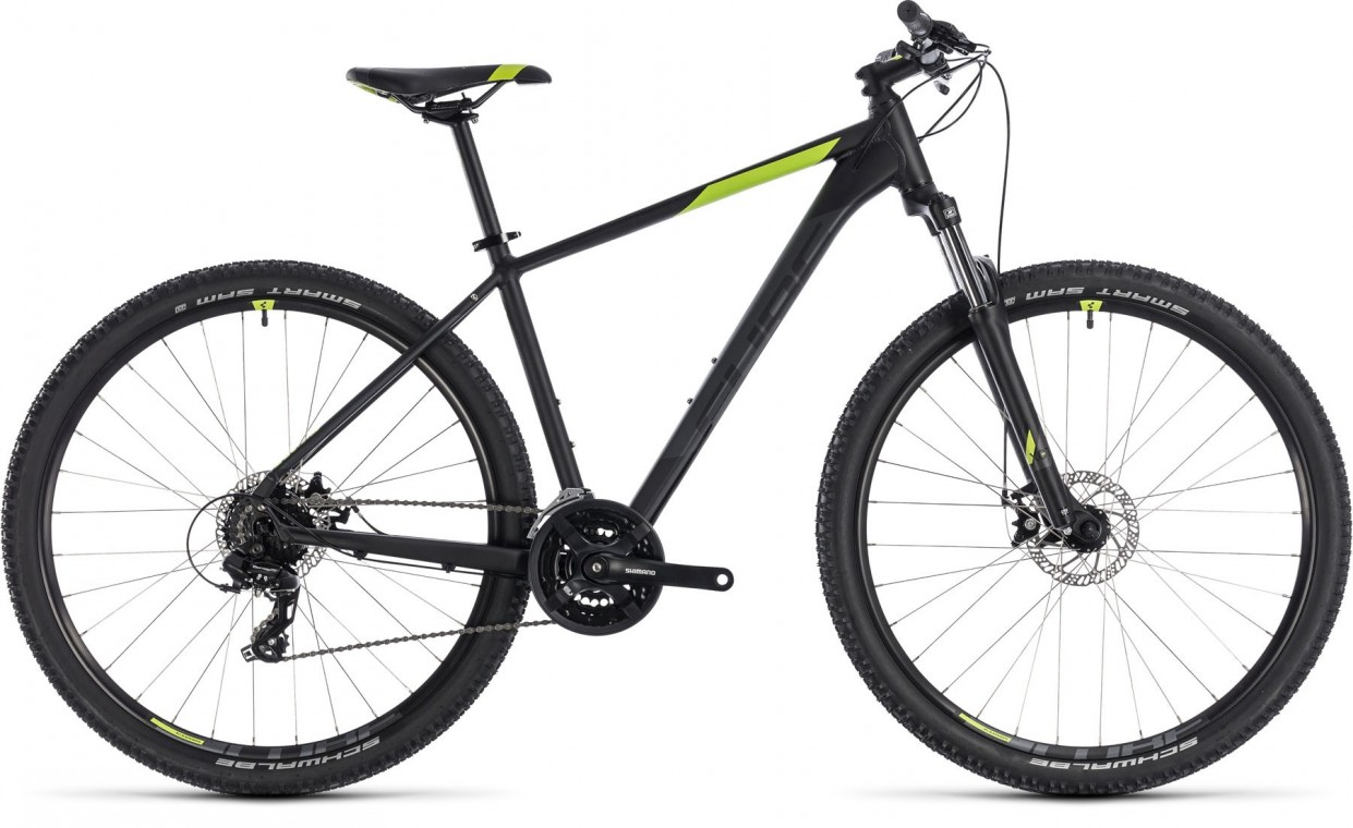 Aim 29, 2018 - Hardtail mountain bike black/green