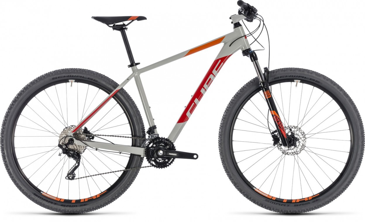 Attention 27.5, 2018 - Hardtail Mountain bike grey/red