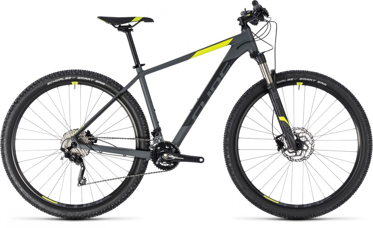 Attention SL 27.5, 2018 - Hardtail Mountain bike grey/flashyellow