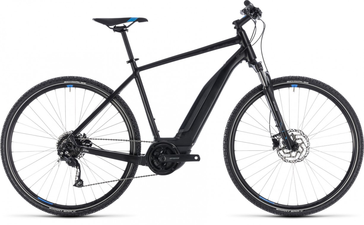 Cross Hybrid One 500, 2018 - electric bike black/blue