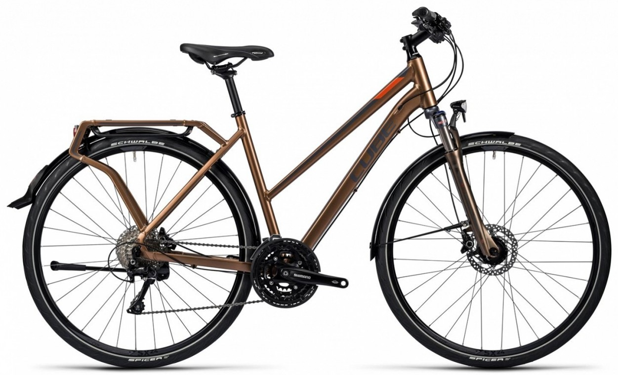 Delhi Pro Trapeze Brown 2016 - Hybrid Bike