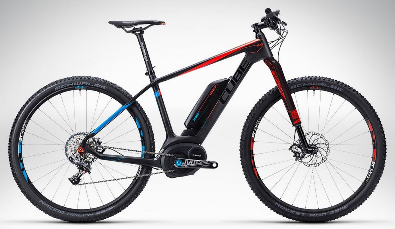 Elite Hybrid GTC SLT 29 Black 2015- Electric Mountain Bike Race