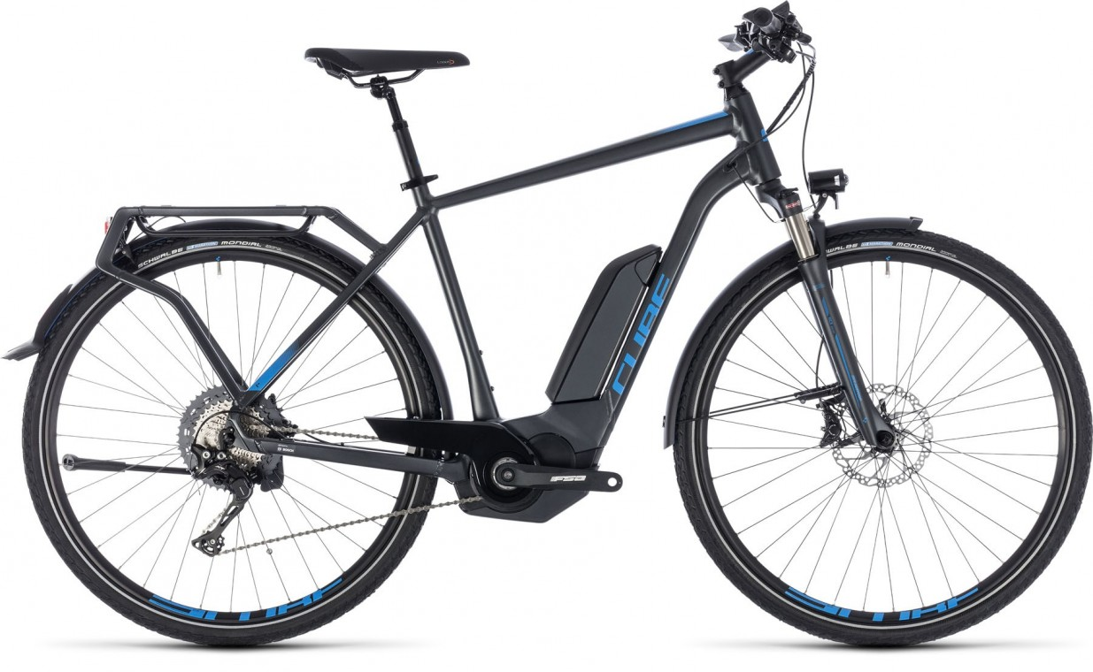Kathmandu Hybrid EXC 500, 2018 - electric bike iridium/blue