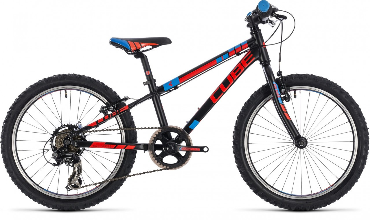 Cube Kid 200, - Kids Bike Black/flashred/blue 2018