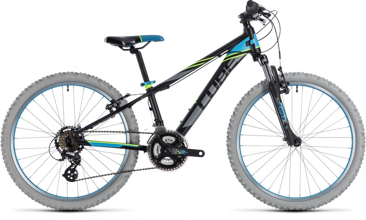 Cube Kid 240 2018 Kids Bike Black Blue