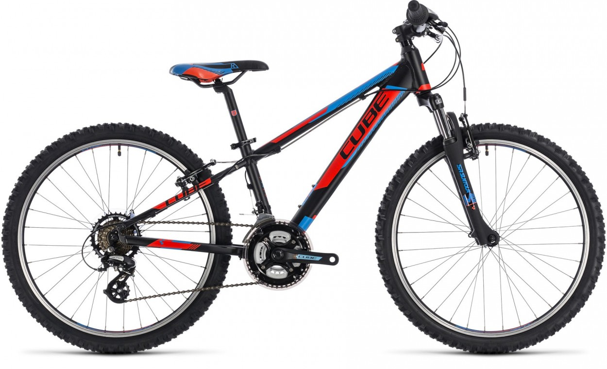 Kid 240, 2018 - Kids bike black/flashred/blue