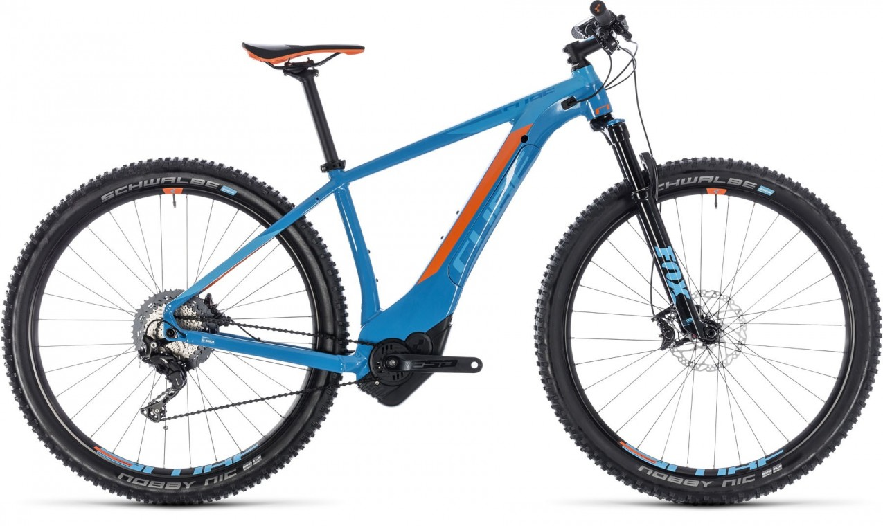 Reaction Hybrid SLT 500, 2018 - electric bike blue/orange