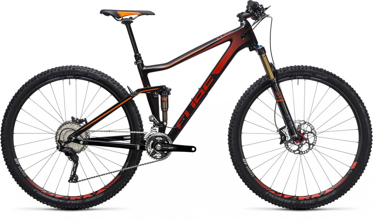 Cube Stereo 120 HPC SL Carbon/Red 2017 - Mountain Bike