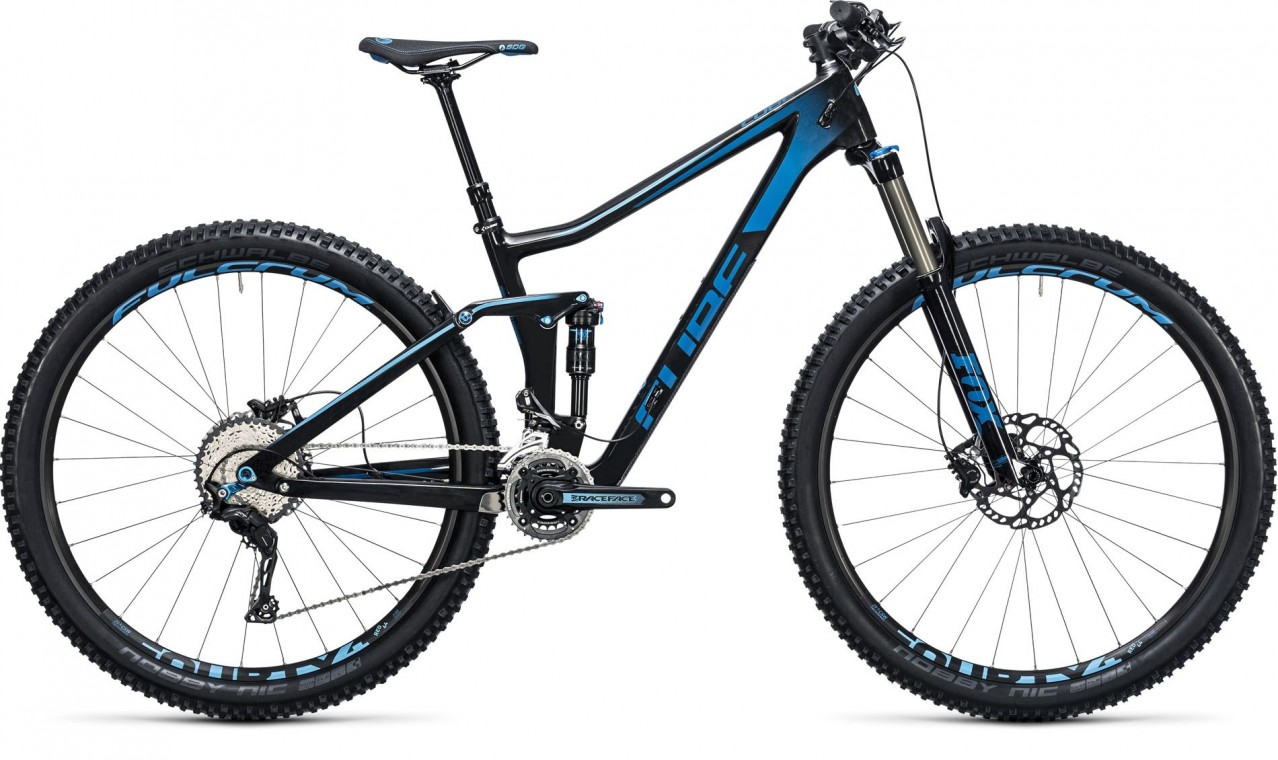 Cube Stereo 140 C 62 29 Race Carbon Blue Mountain Bike 2017