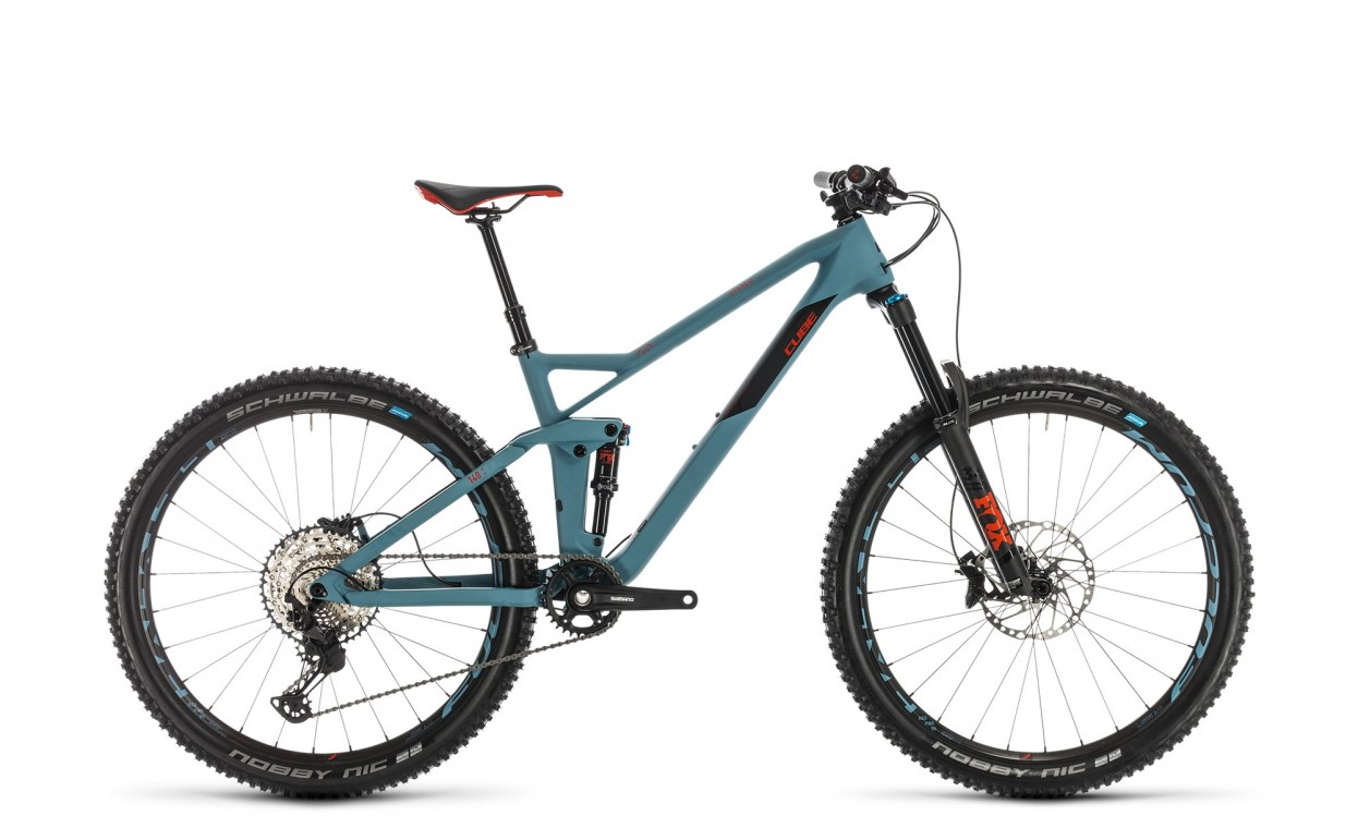 Cube Stereo 140 HPC Race 27.5 Blue Grey / Red 2020