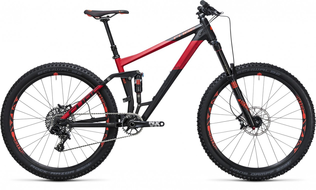 Cube Stereo 160 HPA 27.5 Race Black/Red 2017 - Mountain Bike