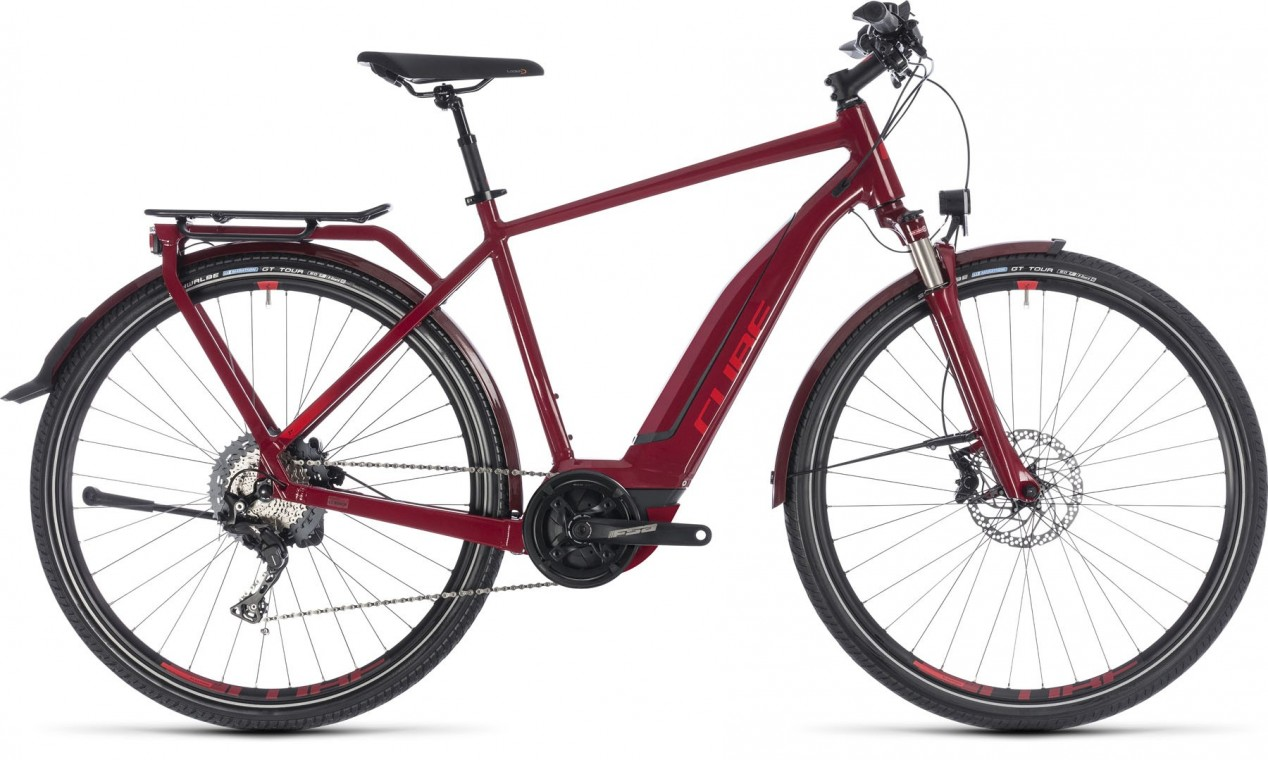 Cube Touring Hybrid Exc 500 2018 Electric Bike Darkred Red