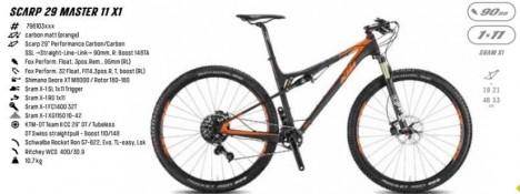 KTM Scarp 29 Master 11S 29er Mountain bike