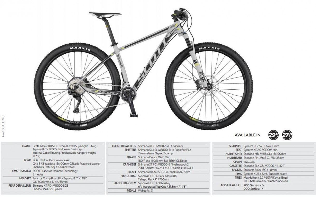 Scott Scale 740 2017 - 27.5 Mountain Bike