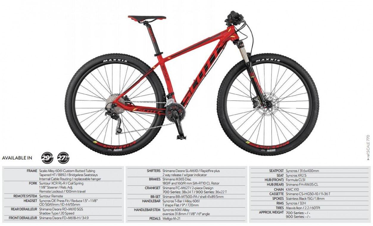 Scott Scale 770 2017 - 27.5 Mountain Bike