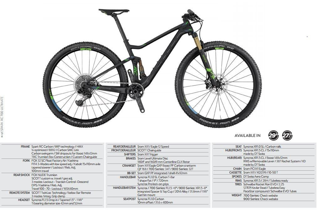 Spark RC 700 Ultimate 2017 - 27.5 Mountain Bike