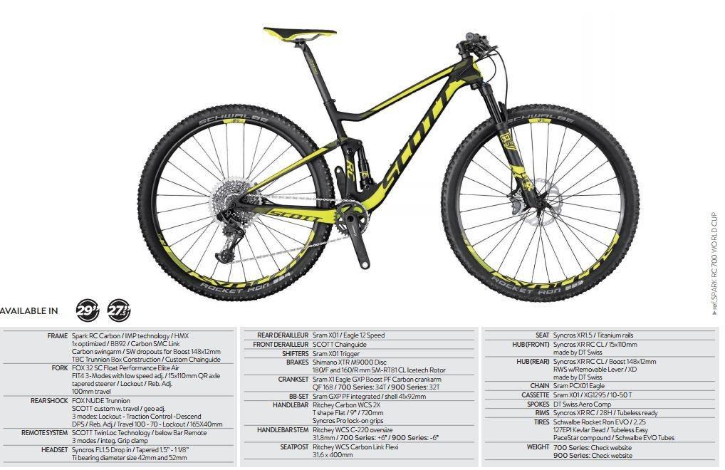 Scott Spark Rc 700 World Cup 2017 27 5 Mountain Bike